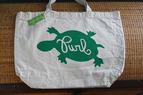 Custom bag for Turtle Purl