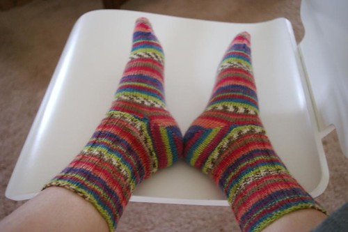 A finished pair of socks!