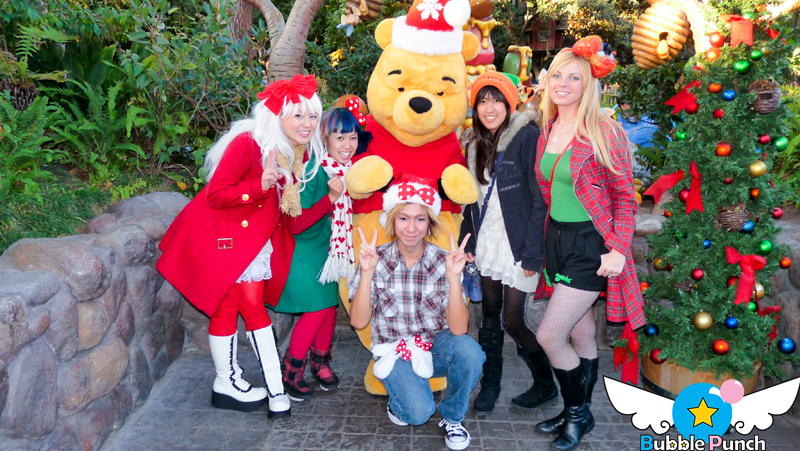 Bubble Punch and friends hanging with our buddy Pooh!!