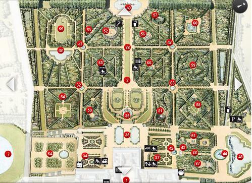 map of versailles gardens