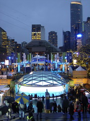 2010 VANCOUVER WINTER OLYMPIC GAMES | ROBSON SQUARE @ DUSK