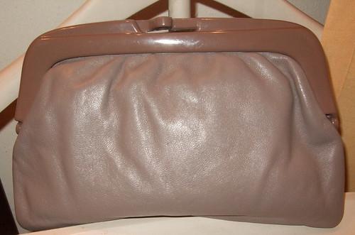 Vintage Handbag Taupe Italy