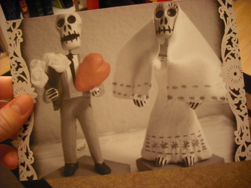 The front of my Day of the Dead wedding invites