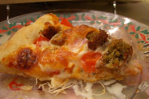 falafel pizza slice