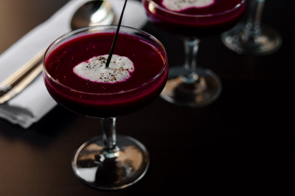 Iced beetroot soup