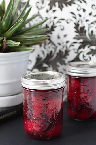Jars of Pickled Beets