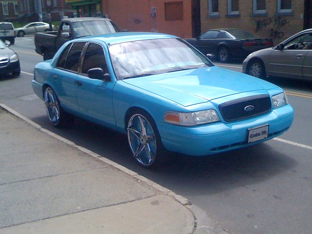 Crown Vic on Broad Street, Hartford