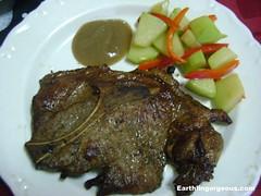 Pork steak and vegetables