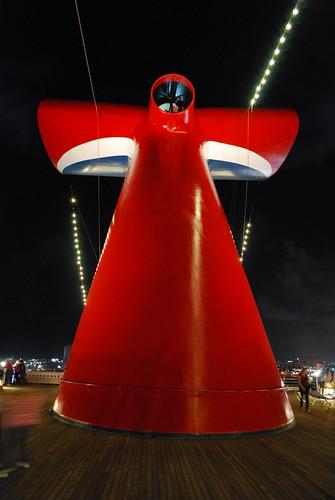 Cruise ship chimney