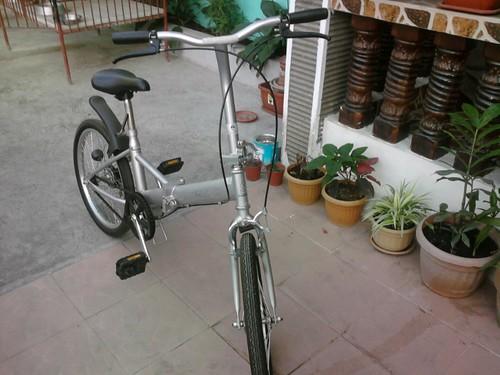 Folding bike - front