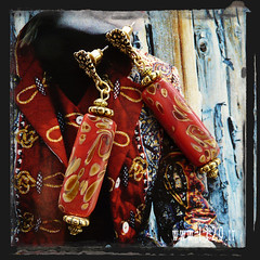 orecchini rossi - red earrings INCERA