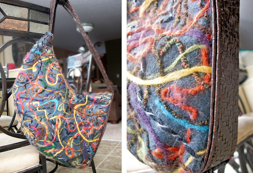 Felted Leather Purse