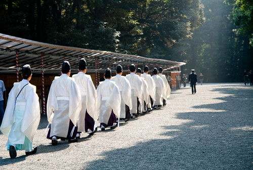 Religious procession at Meijijingu