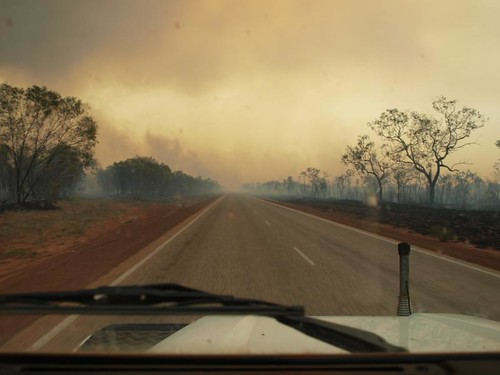 Bushfires on the edge of Broome