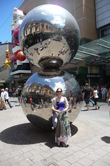 Me infront of Rundle Mall's silver balls