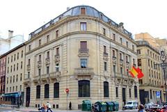 Edificio del Banco de España en el Paseo de Sarasate de Pamplona