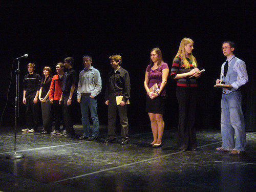 Award ceremony at the 2010 Poetry Out Loud regional, Fergus Falls, MN