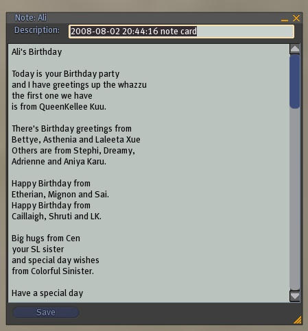 3 Things - Birthday poem 2008