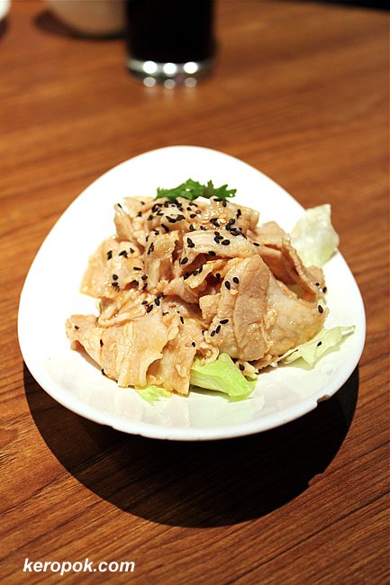 Sliced Pork with Garlic Sauce