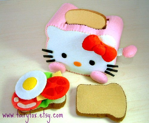 felt toys pattern,hello kitty toaster