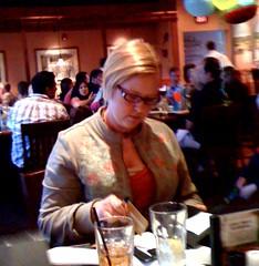 Sara at Carrabbas for Papa's 60th bday dinner!