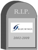 Blue Wings Tombstone