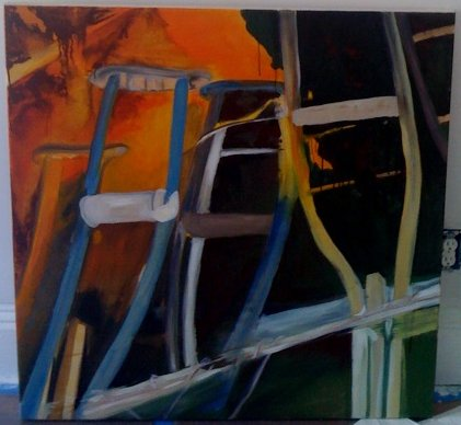crutch painting