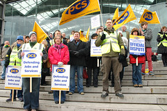 PCS strikers rally the Forum, Norwich on the f...