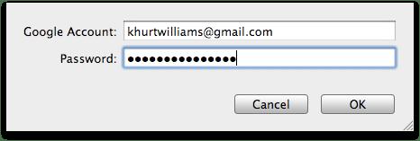 Gmail account info