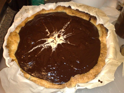Chocolate chestnut tart