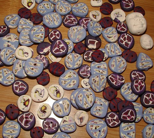 handmade buttons and beads