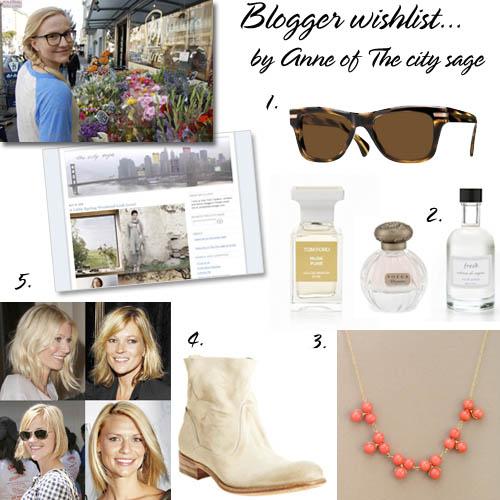 Blogger wishlist Anne