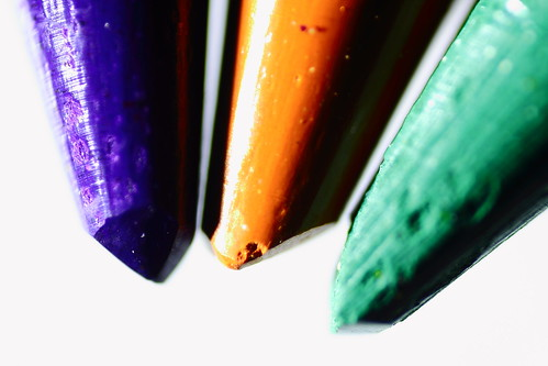Tips of Coloured Pencils