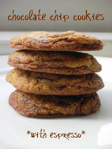 Dorie's best espresso chocolate chip cookies