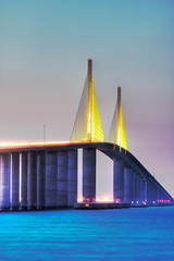 Sunshine Skyway Bridge Tight View
