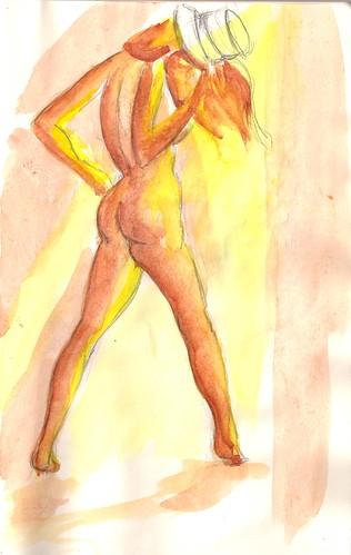 Burlesque Sketch 07- Peek