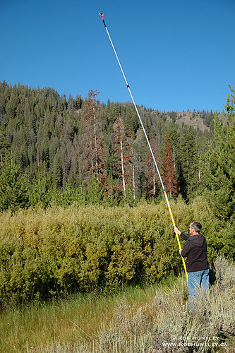 Pole aerial photography (PAP) in the Sawtooth National Recreation Area, Idaho.