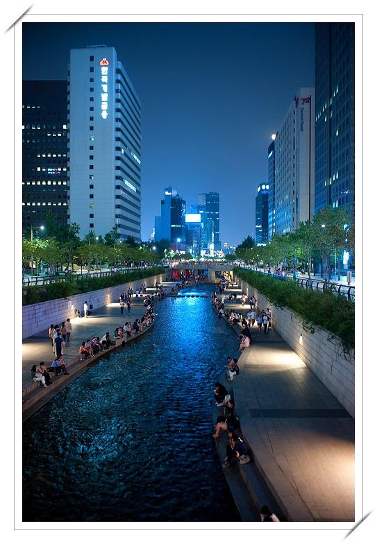 韓國首爾清溪川夜景 @ 深情看天下 :: 痞客邦
