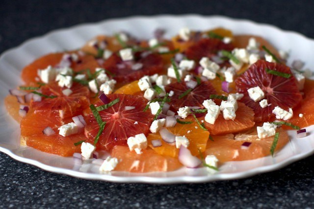 mixed citrus, feta and mint