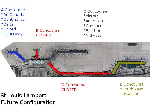 The New St Louis Lambert Airport Configuration