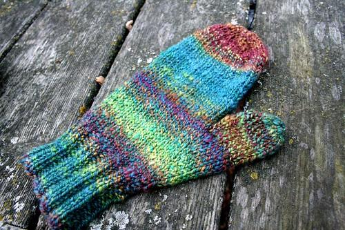 for Rav: Handspun Handknit Mittens