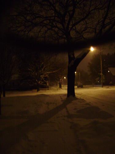 snowy silent street