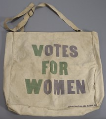 """Votes For Women"" Canvas Bag, ca. 1920"