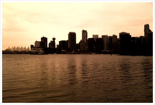 Vancouver skyline with Olympic Flame #tnmh