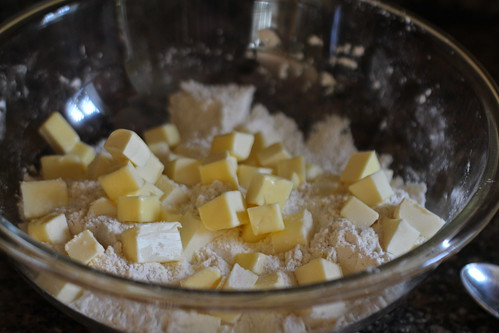 add the cubed butter