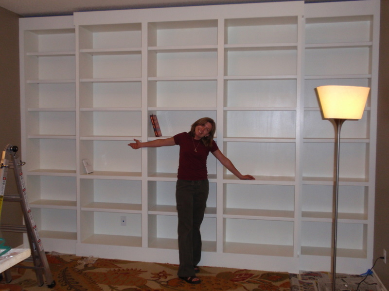 Laura and her bookcases