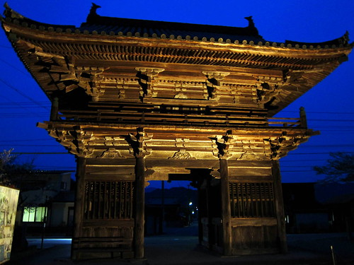 Gate at night