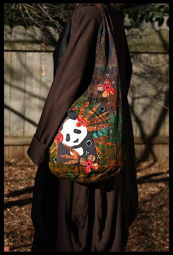 YEAR OF THE TIGER panda handbag by Sandra Miller