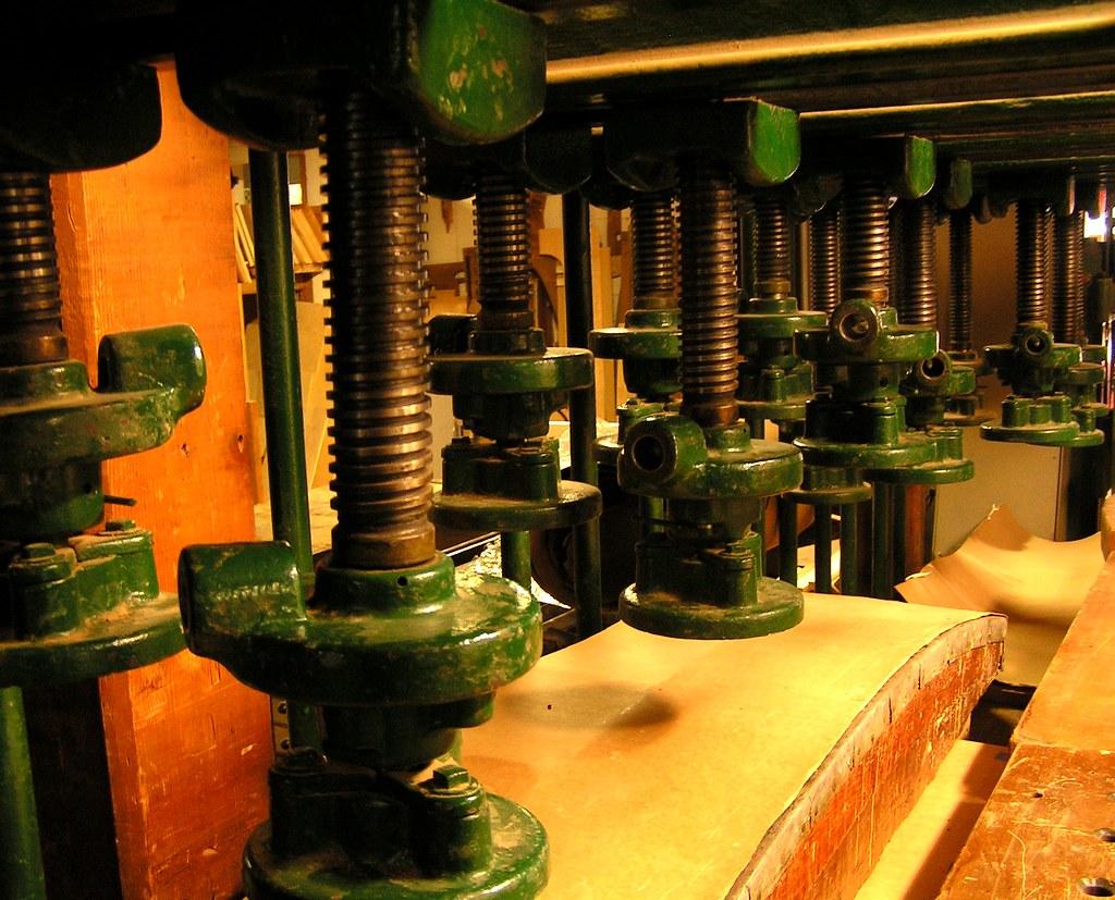 Press for making plywood, Austin Organs