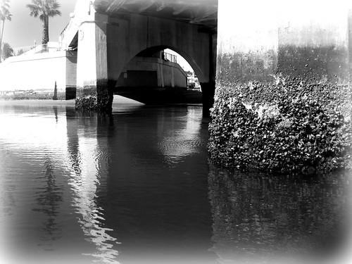 Lido bridge at low tide